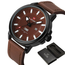 NAVIFORCE Mens' Outdoor watch in leather strap N9075-3