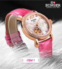 BINGER Swiss Women's Watch Automatic Self-winding Wrist Watch 1132