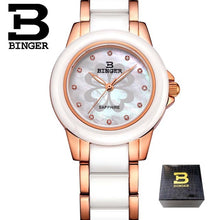 Binger Swiss Womens' Ceramic Wrist Watches 1120