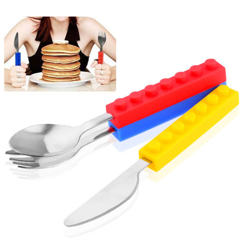 3Pcs Building Blocks Dinnerware