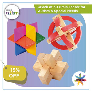 3Pack of 3D Brain Teaser for Autism & Special Needs (15%OFF)