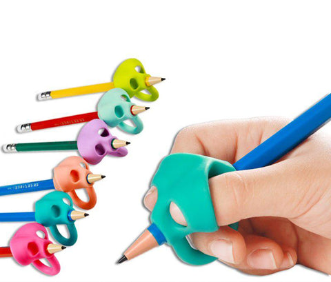 3PCS Ergonomic Training Pencil Holder - Double Thumb
