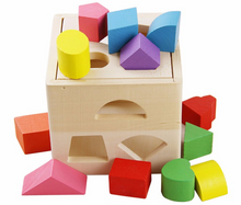 Load image into Gallery viewer, Wooden Shape Sorting Cube