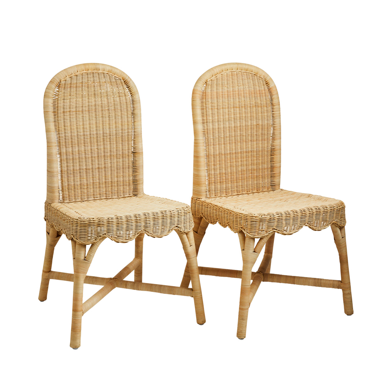 Linton Scalloped Side Chair, Set of 2