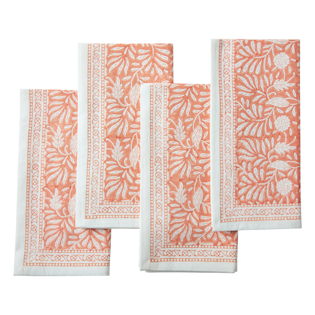 Jasmine Napkins Coral, Set of 4
