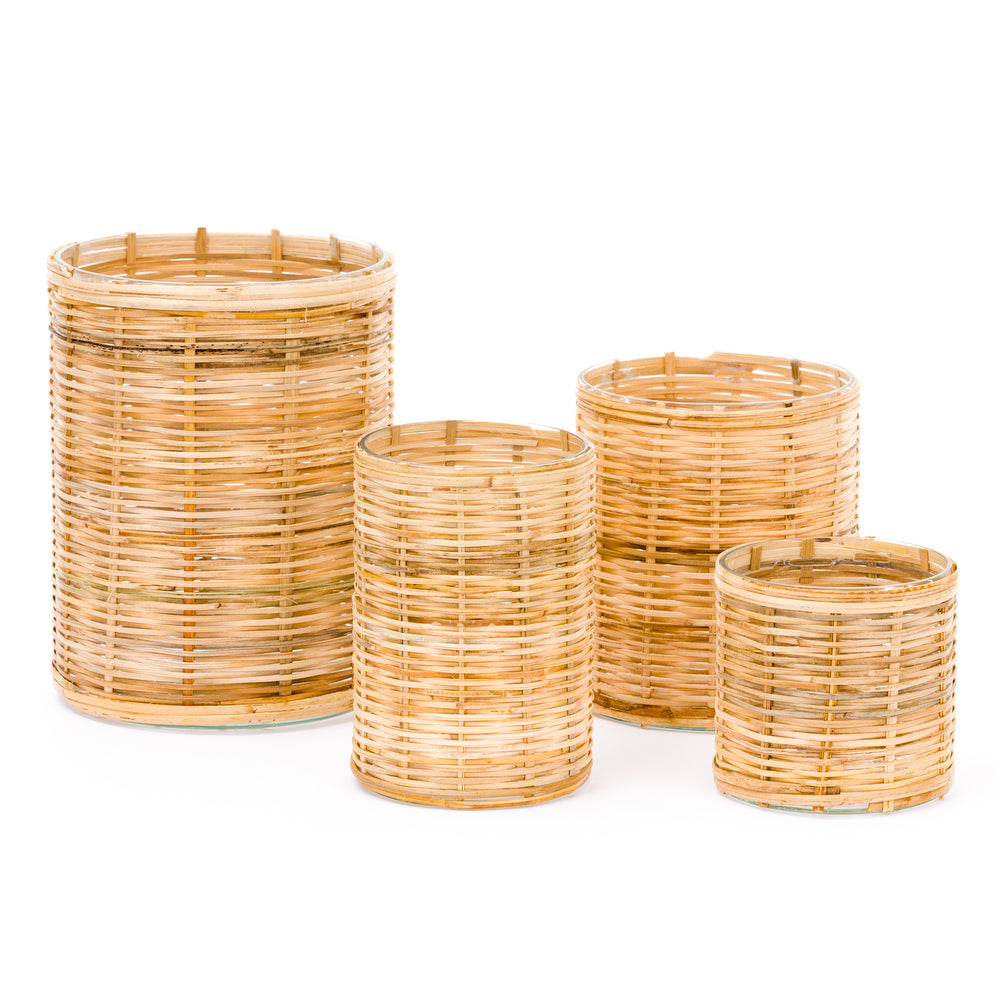 Wicker Hurricane Votive Extra Small