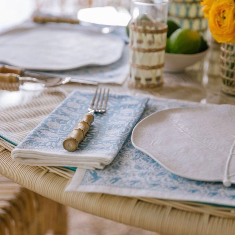 Jasmine Placemats Blue, Set of 4