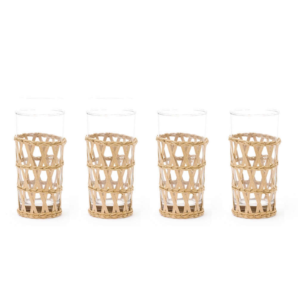 island wrapped ice tea natural, set of 4