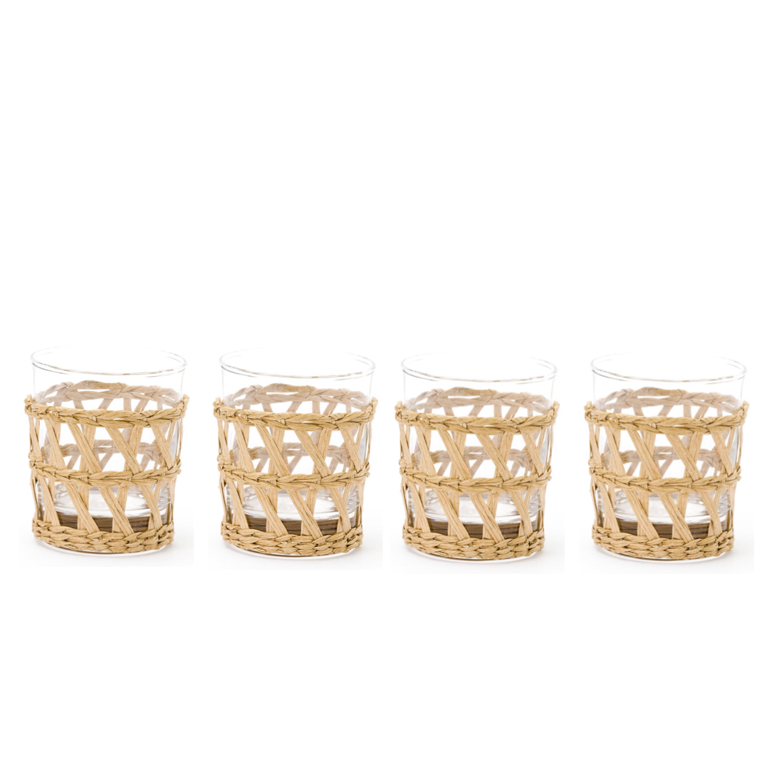 Island Wrapped Tumbler Natural, Set of 4