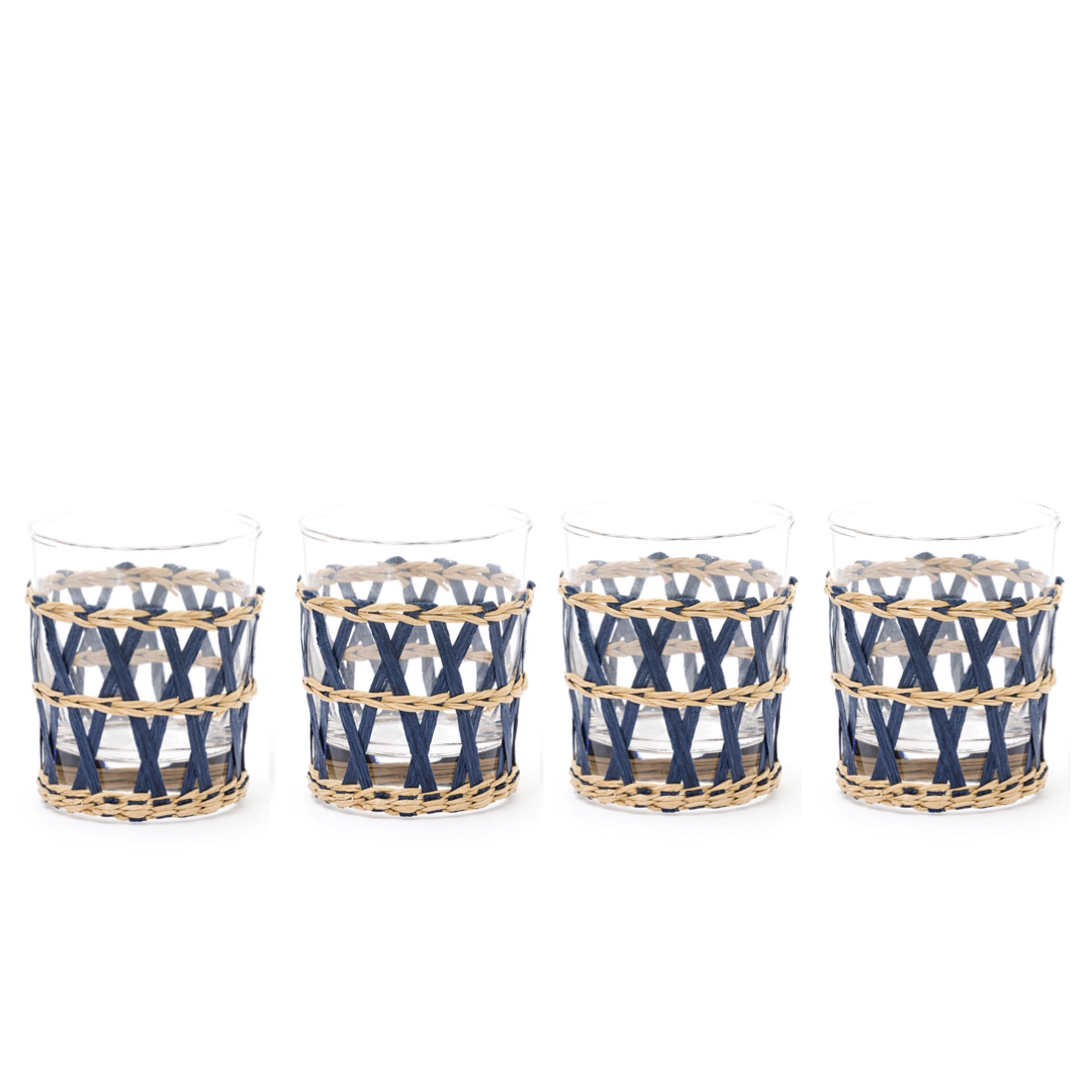 Island Wrapped Tumblers Navy, Set of 4