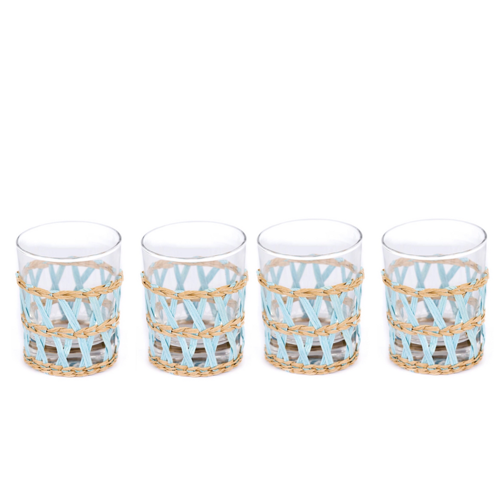 island wrapped tumbler in light blue (set of 4)