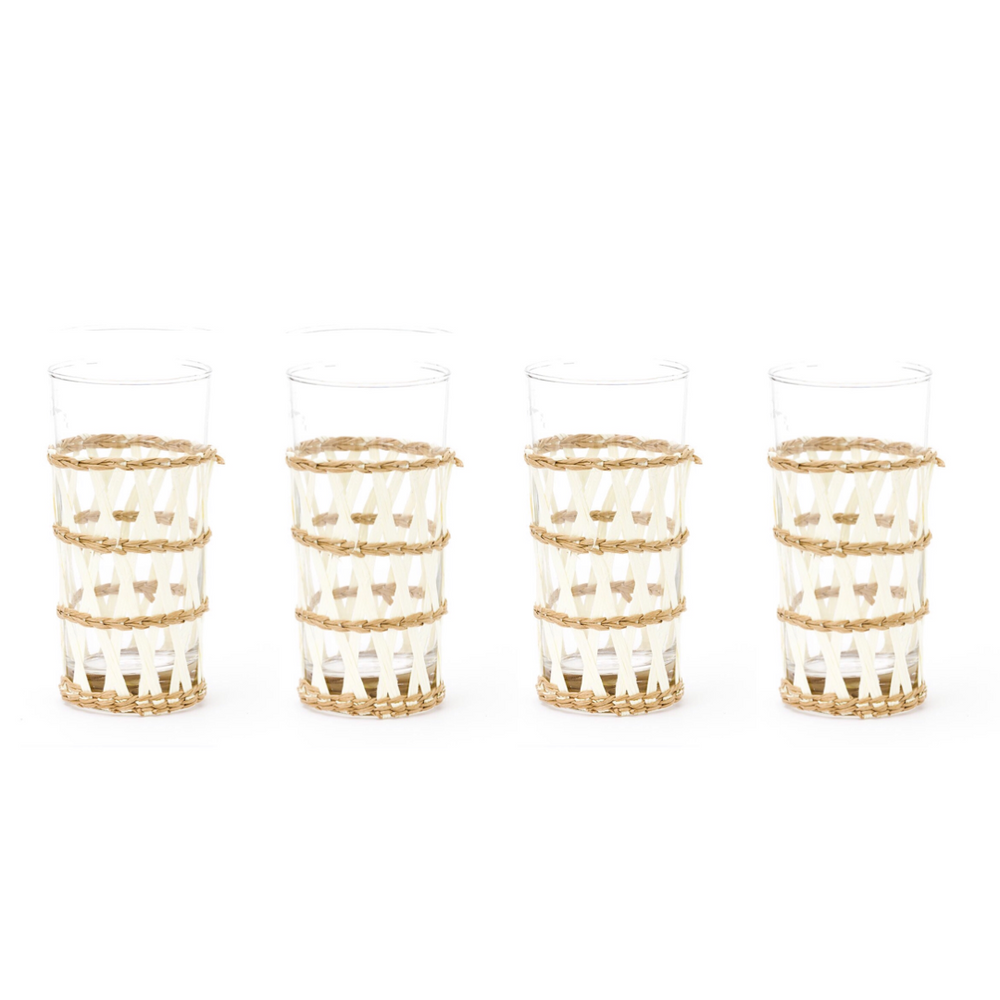 white island wrapped ice tea glass (set of 4)