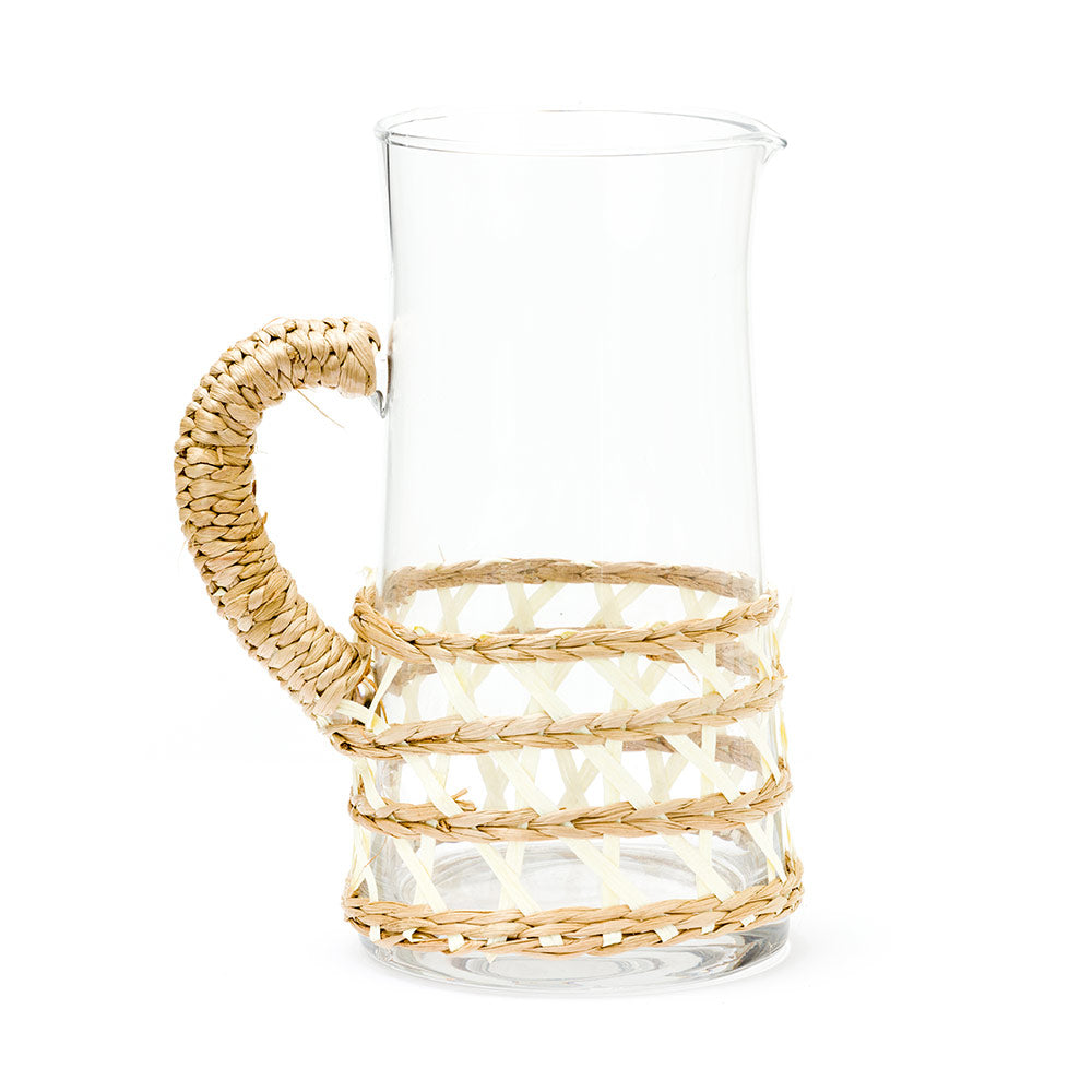 large island wrapped pitcher in white