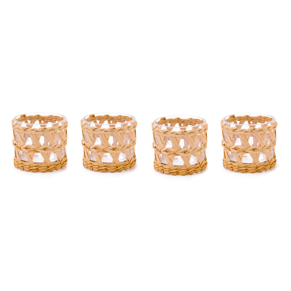 Island Wrapped Votives (Set of 4)