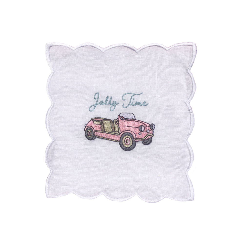 Jolly Time Cocktail Napkins, Set of 4