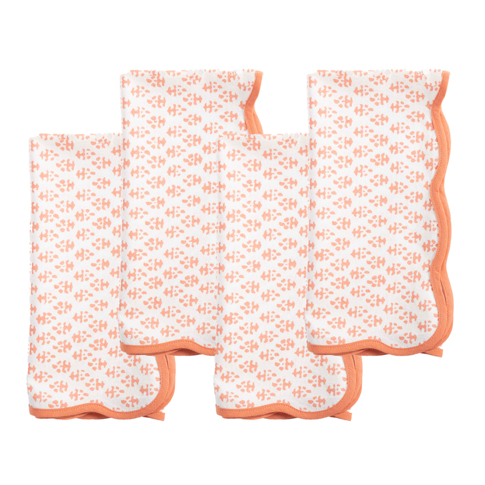 batik napkins in coral (set of 4)
