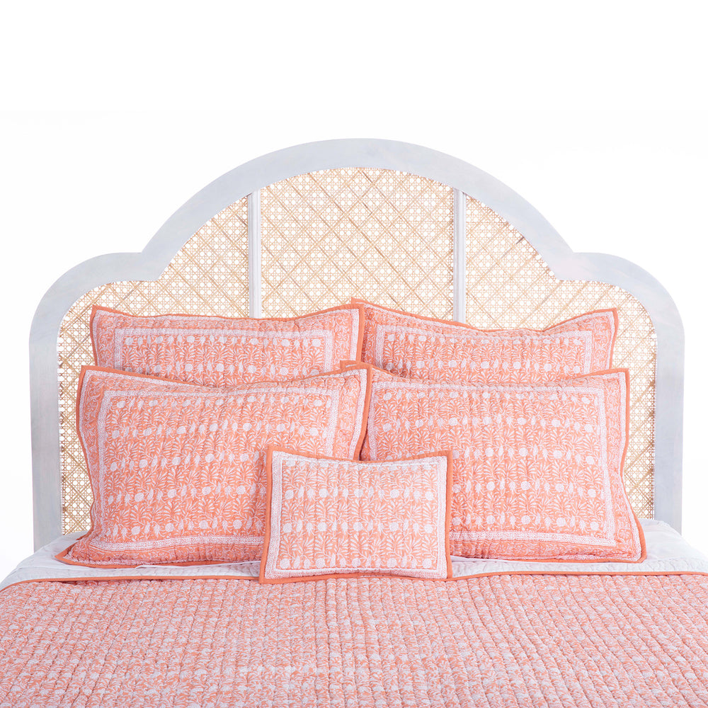 jasmine quilt king coral
