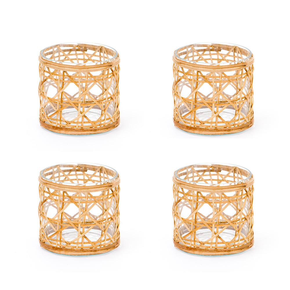 cane votives extra small, set of 4