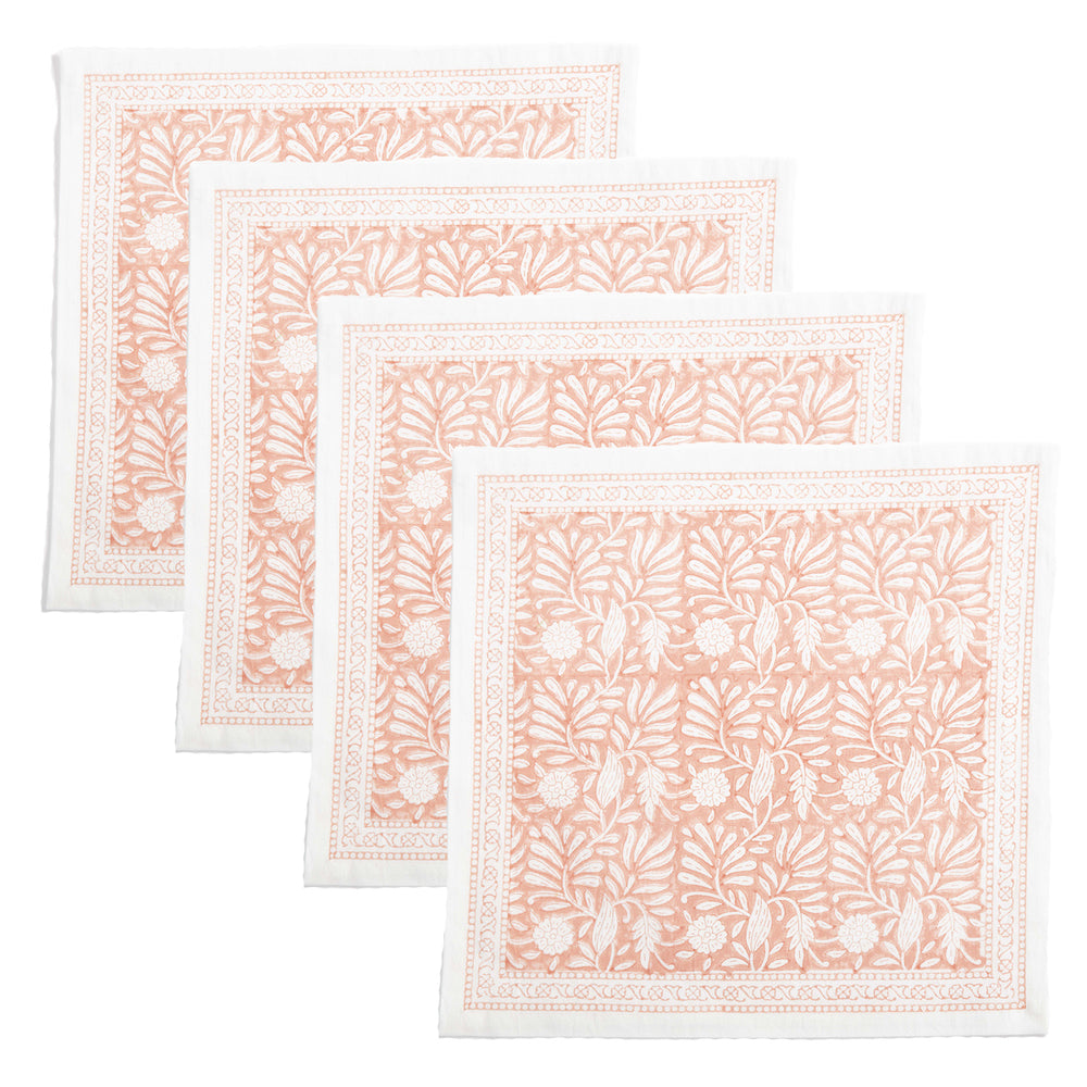 jasmine placemats coral, set of 4