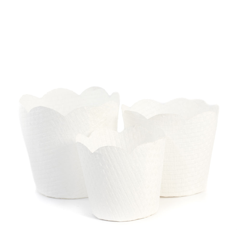 Blonde Paper Orchid Basket Small, Set of 2