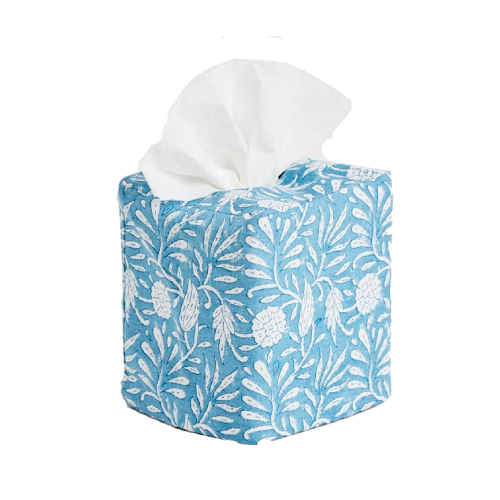 jasmine tissue box cover blue
