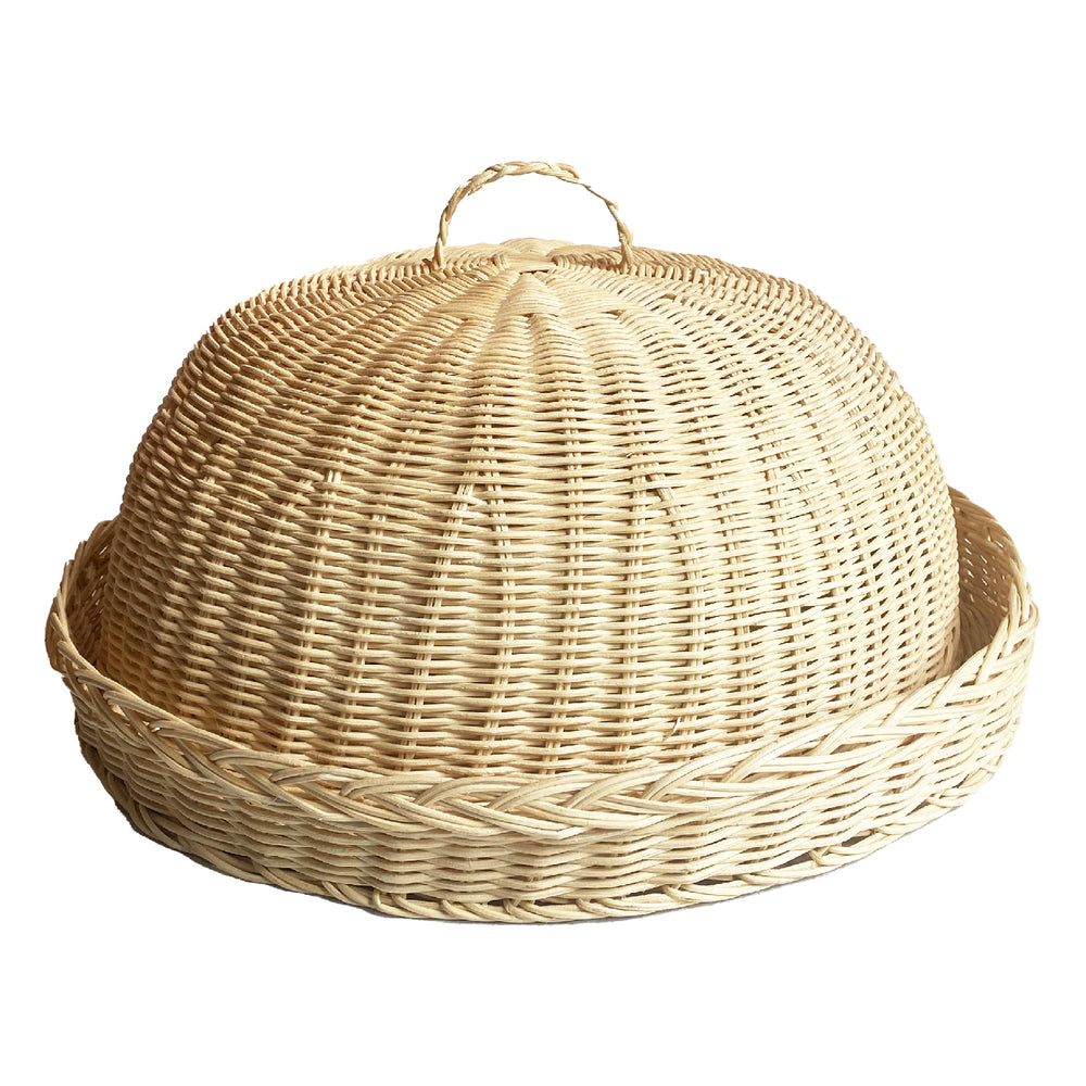 rattan cloche, small blonde