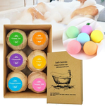 Bath Bombs Gift Set - 6 pcs, handcrafted and vegan