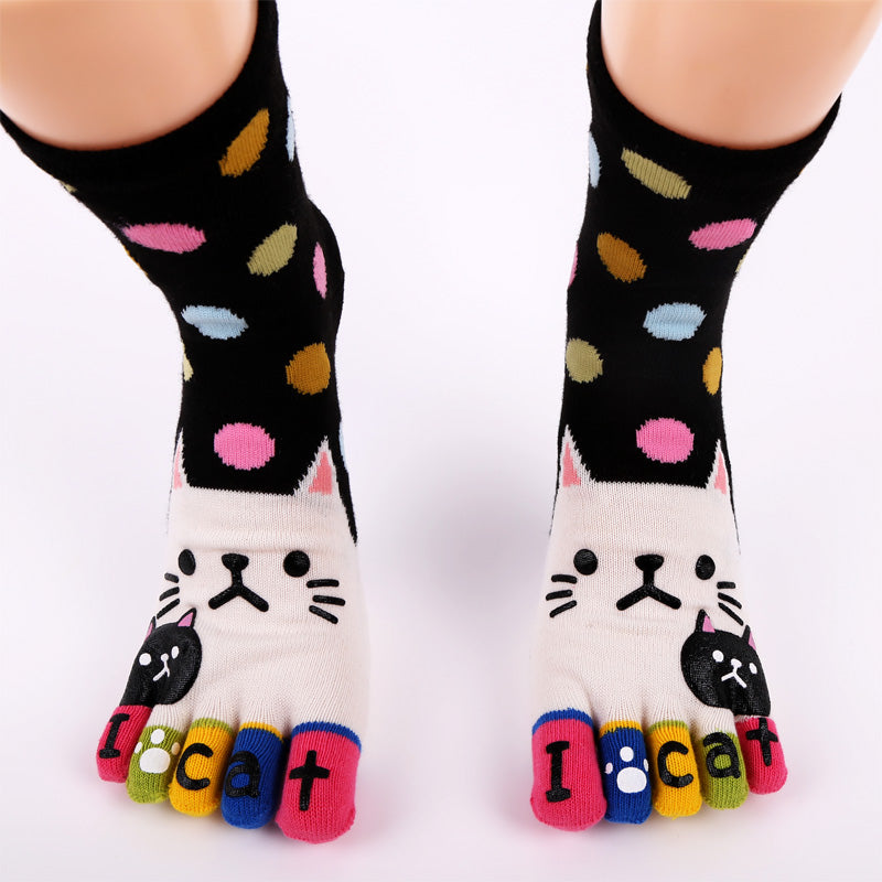 Colorful Cat Toe Socks
