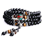 Tiger Eye and Obsidian Beads Bracelet - Free Worldwide Shipping!