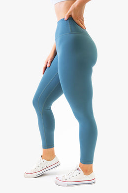 The Senara Legging - Steel Teal - Avo Activewear Ltd