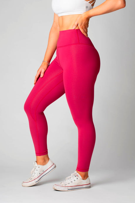 The Senara Legging - Raspberry Red *New Release* - Women's Petite Leggings - Avo Activewear Ltd