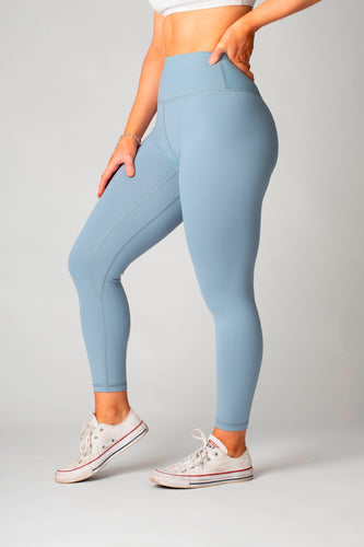 The Senara Legging - Misty Blue - Women's Petite Leggings - Avo Activewear Ltd