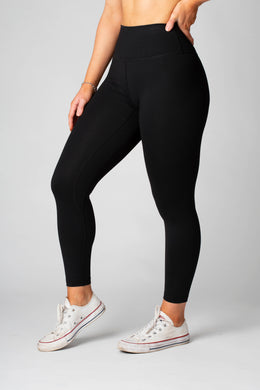 The Senara Legging - Smooth Black - Avo Activewear Ltd