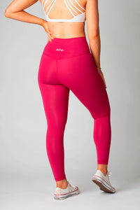 The Senara Legging - Raspberry Red - Women's Petite Leggings - Avo Activewear Ltd