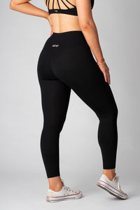 The Senara Legging - Smooth Black - Women's Petite Leggings - Avo Activewear Ltd