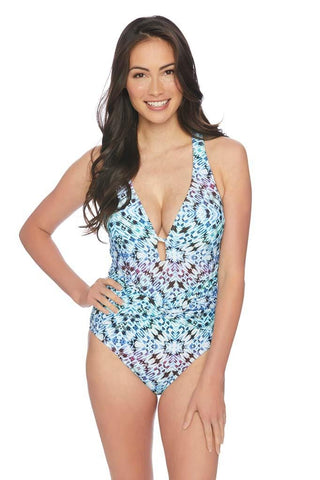 Indigo Essence Strapless Shirred One Piece
