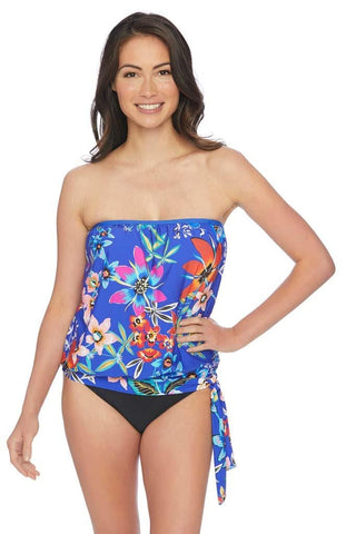 Tankini Top & Retro Bikini Bottom Set