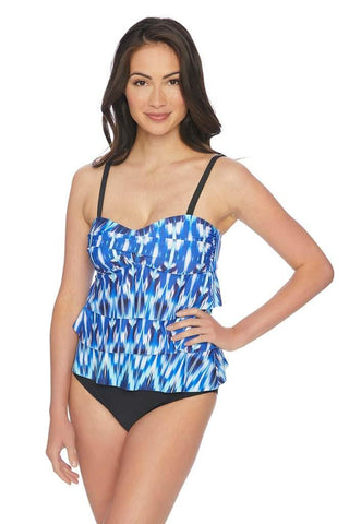 Divina Gathered Bandeau Bikini Top