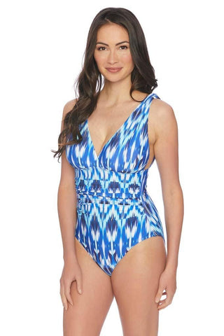 Stormy Story Lace Up One Piece Swimsuit