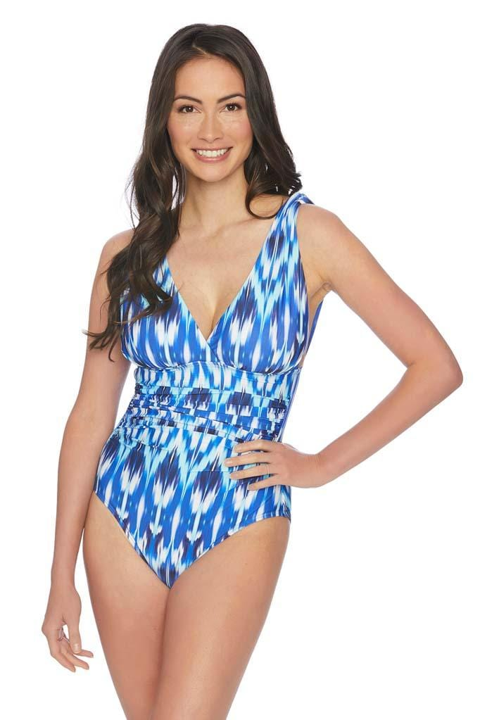Cascade Ikat Surplice One Piece