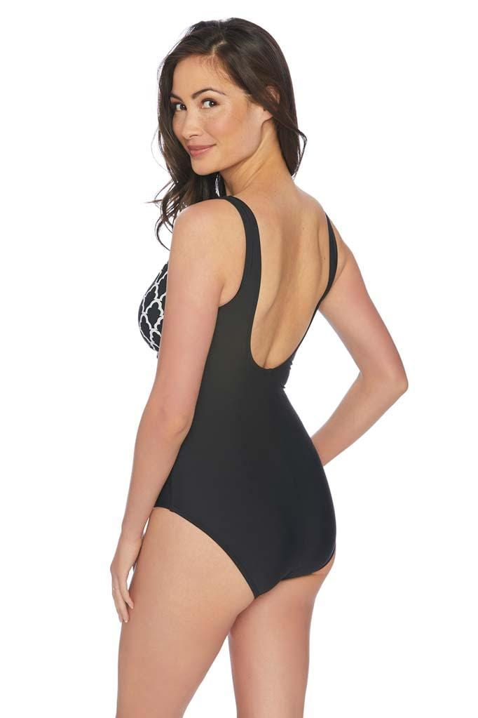 Trellis V-Neck One Piece