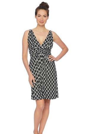 Trellis Surplice Empire Dress