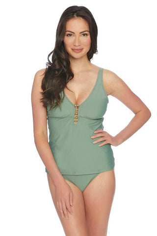 Waimea Bay Blue Tankini Top