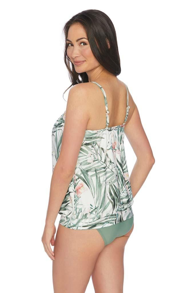 Painted Nature Blouson Tankini Top