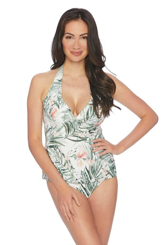 Painted Nature Halter Tankini Top