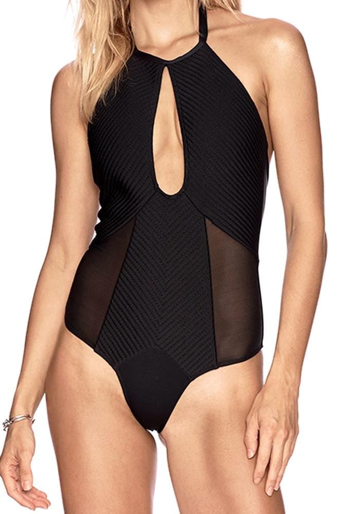 Marisa Mesh Inset Keyhole Neck One Piece
