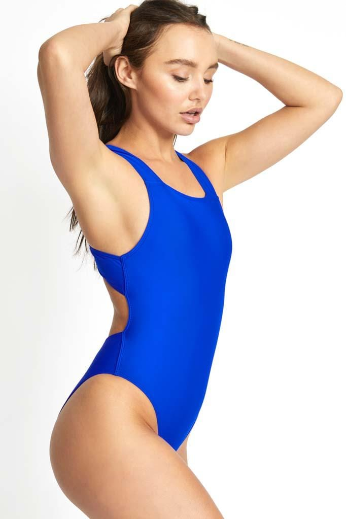 Solids Straight Neck One Piece