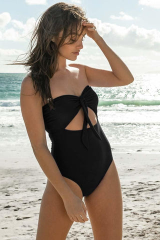 Solids V-Neck One Piece