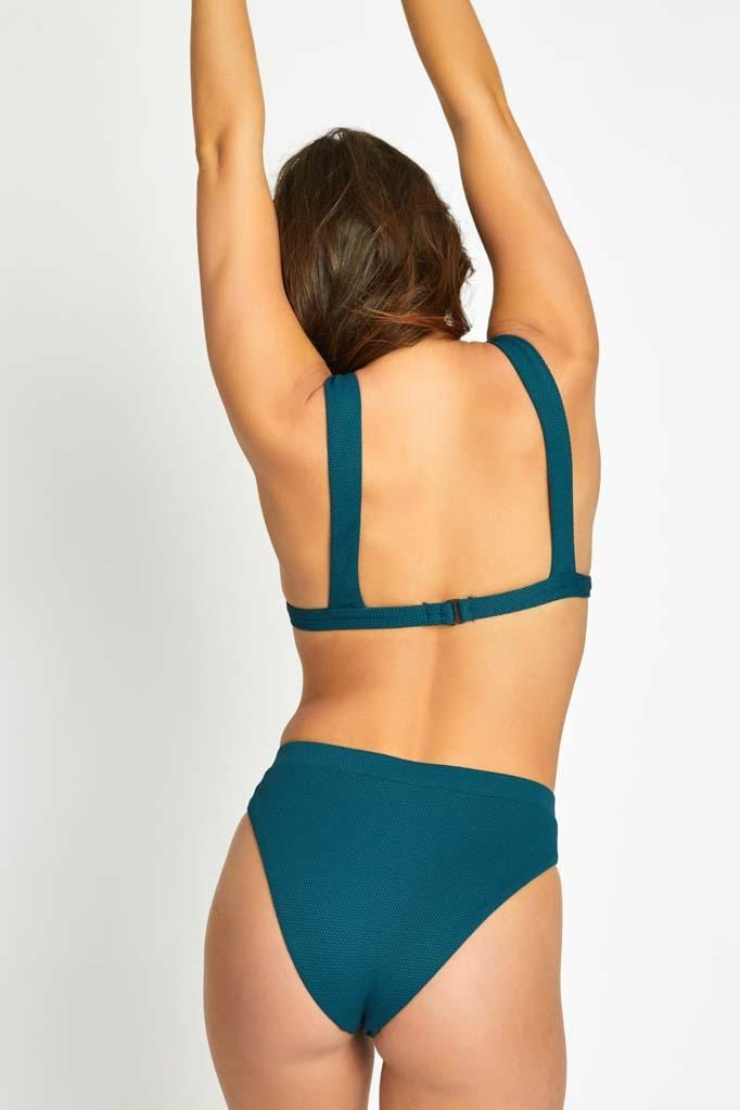 Rain Texture Halter Top & High Waist Bottom Set