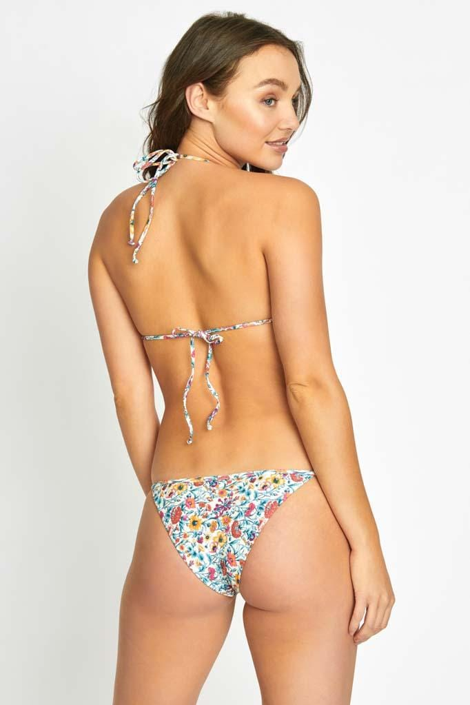Wildflower Triangle Bikini Top & String Bottom Set